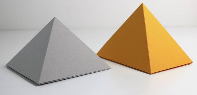 Example of Pyramid-shaped box